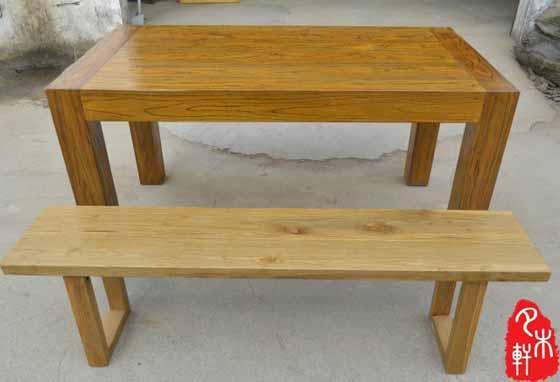 老榆木餐桌椅ym-3